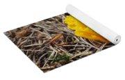 Yellow Coral Mushroom Yoga Mat