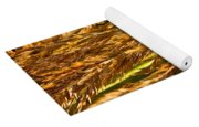Yellow Feather Reed Grass Yoga Mat
