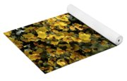 Yellow Flowers On Tree Yoga Mat