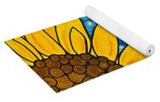 Yellow Sunflowers Yoga Mat