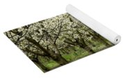 A Flowering Cherry Orchard Yoga Mat