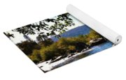 American River Through The Trees Yoga Mat
