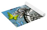Armadillos Bluebonnets And Butterflies Yoga Mat