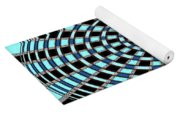 Blue And Black Abstract Yoga Mat