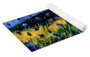Blue Poppies  Yoga Mat