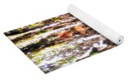 Close Up Of Waterfall Flowing Over Rocks  Yoga Mat