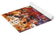Colorful Autumn Trees In Forest Yoga Mat