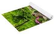 Flower Cart In Garden Yoga Mat