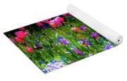 Garden Flowers With Tulips Yoga Mat