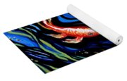 Koi Fish In Ribbons Of Water Yoga Mat