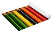 Multicolored Pencils In Rows Yoga Mat