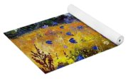 Old Chapel And Flowers Yoga Mat