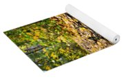 Path In Fall Forest Yoga Mat