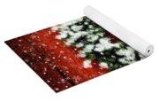 Snowy Christmas Wreath Card Yoga Mat