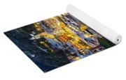View Of The Harbour At Dusk  Portofino Yoga Mat