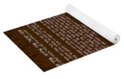 Hebrew Prayer- Shema Israel Yoga Mat