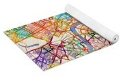 London England Street Map Yoga Mat