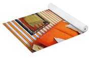 1960 70 Stylish Living Room Advertisement Orange And Stripes Groovy Baby Yoga Mat