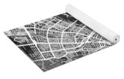 Cali Colombia City Map Yoga Mat