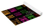 Colorful Music Rock N Roll Guitar Retro Distressed  Yoga Mat