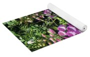 2 Pink Bell Flowers. Foxglove Yoga Mat
