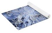 Quad Cities Street Map Yoga Mat