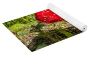 Red And White Potted Toadstool Yoga Mat