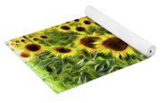 Van Gogh Sunflowers Yoga Mat