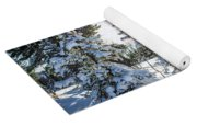 Amazing Landscape With Frozen Snow-covered Trees In Winter Morning  Yoga Mat