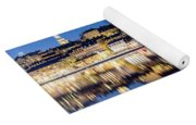 Perfect Sodermalm And Mariaberget Blue Hour Reflection Yoga Mat