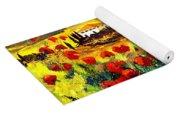Tuscany Poppies Yoga Mat