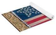 33 Star American Flag. Painting Of Antique Design Yoga Mat