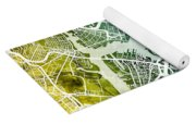 Boston Massachusetts Street Map Yoga Mat
