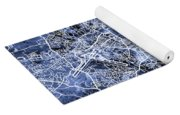 Hamburg Germany City Map Yoga Mat