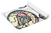 Abstract Pencil Pattern Yoga Mat