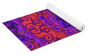 Indian Fabric Pattern Yoga Mat