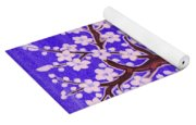 White Tree In Blossom, Painting Yoga Mat