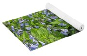 A Bed Of Bluebells Yoga Mat