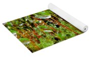 A Microcosm Of The Forest Of Moss In Rain Droplets Yoga Mat