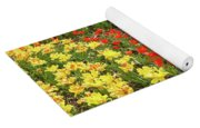 A Place To Sit By The Flowers Yoga Mat