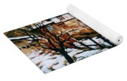 A Village In Winter Yoga Mat