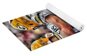Aaron Rodgers Jordy Nelson Green Bay Packers Art Yoga Mat