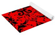 Abby Damask In Black Pattern 02-p0113 Yoga Mat