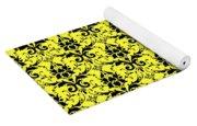 Abby Damask In Black Pattern 05-p0113 Yoga Mat