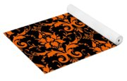 Abby Damask With A Black Background 03-p0113 Yoga Mat