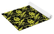 Abby Damask With A Black Background 05-p0113 Yoga Mat