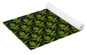 Abby Damask With A Black Background 09-p0113 Yoga Mat