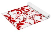 Abby Damask With A White Background 02-p0113 Yoga Mat