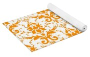Abby Damask With A White Background 03-p0113 Yoga Mat
