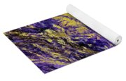 Abstract Amethyst  With Gold Marbled Texture Yoga Mat
